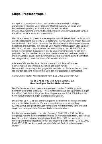 Eilige Presseanfrage : - Skandale-in-Sachsen.com