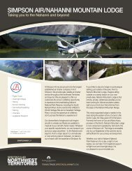 SIMPSON AIR/NAHANNI MOUNTAIN LODGE - NWTT Travel Trade