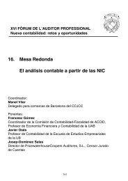 16. Mesa Redonda El análisis contable a partir de las NIC