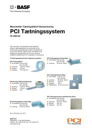 PCI Tætningssystem - Basf