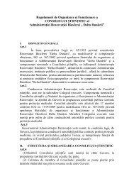 Propunere de Regulament de Organizare şi Funcţionare a