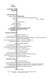 Curriculum Vitae - J&B Srl