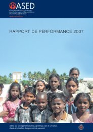 Rapport annuel 2007 - ASED