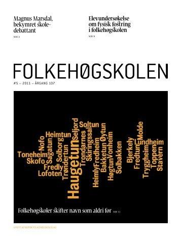 Nr. 5 2011 - folkehogskolene.net