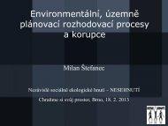 Environmentální, územně plánovací rozhodovací procesy a korupce