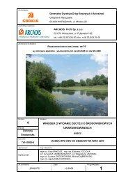 Wpływ na obszar Natura 2000 - SISKOM