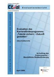 Evaluation erste Förderrunde - Cusanuswerk