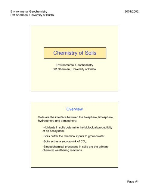Lecture Notes (PDF) - Aqueous and Environmental Geochemistry