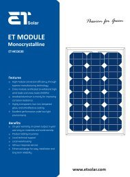ET MODULE - LP ELECTRIC Systems customer section