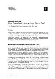 Projektbeschreibung (Kinder-) - Landesverband der Tagesmütter ...