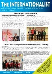 Internationalist Issue 14 Spring 2010 - College of International ...