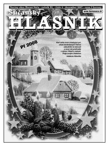 Súčanský hlásnik 2007 číslo 4 (pdf) - Horná Súča