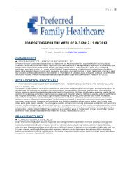 Page   1 JOB POSTINGS FOR THE WEEK OF 9/3/2012 - 9/9/2012 ...