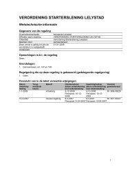 VERORDENING STARTERSLENING LELYSTAD - Gemeente Lelystad