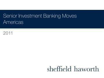 Senior Investment Banking Moves Americas - Sheffield Haworth