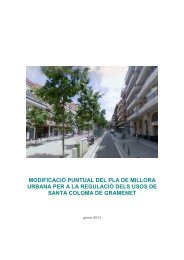 Modificació puntual del pla de millora urbana per - Ajuntament de ...