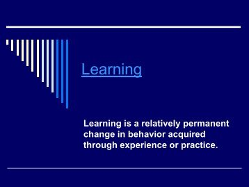 Ciccarelli Chapter 5 - Learning