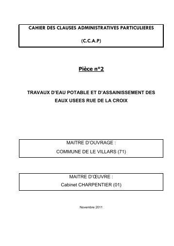 Pièce n°2 - CCAP - Le Villars