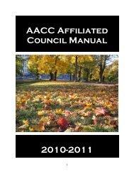 councilmanual2010-11 - American Association of Community ...