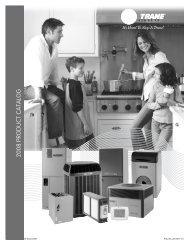 2008 Trane Product Catalog - Blue Phoenix Mechanical