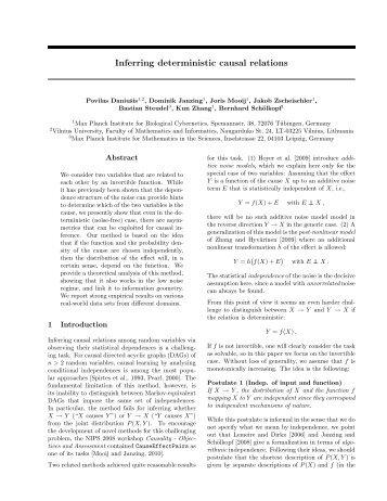 Inferring deterministic causal relations - webdav