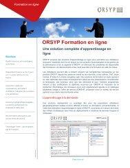 ORSYP Formation en ligne Une solution complète d'apprentissage ...