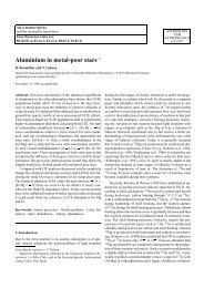 Aluminium in metal-poor stars - Universitäts-Sternwarte München