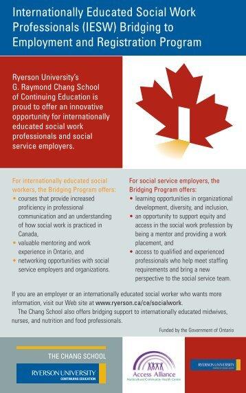 IESW Bridging Program description.pdf - Access Alliance
