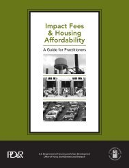 Impact fees & Housing Affordability: A Guide for ... - HUD User