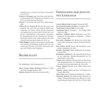 Bildquellen Verzeichnis der benutz- ten Literatur