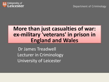 English Football Hooliganism Dr James Treadwell Lecturer in ...