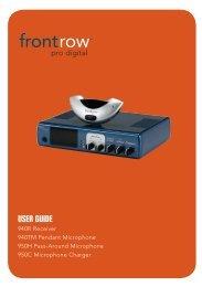 FrontRow Pro Digital User Guide - Centrum Sound