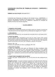 CONVENÇÃO COLETIVA DE TRABALHO 2012/2013 – SINPRO/RS ...