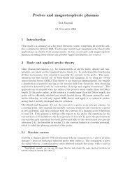 Probes and magnetospheric plasmas - Space.irfu.se