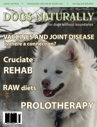 January/February 2012 - Dogs Naturally Magazine