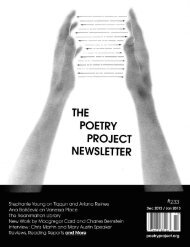 Download PDF - The Poetry Project