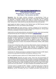 BANCO ITAÚ HOLDING FINANCEIRA SA Teleconferência Nacional ...