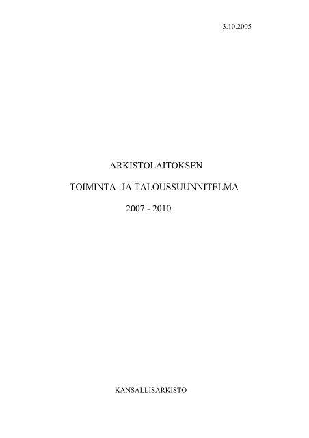 2007-2010 - Arkistolaitos