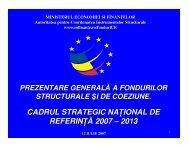 Prezentarea generala a fondurilor de coeziune si ... - CSN Meridian