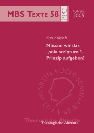 """Müssen wir das """"sola scriptura-Prinzip"""" aufgeben? - Martin Bucer ..."""