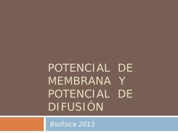 Teòrico de Potencial de Membrana y Potencial de Difusiòn 03-06 ...