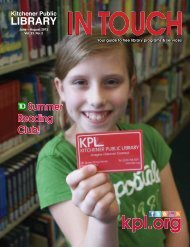 in Touch - Kitchener Public Library