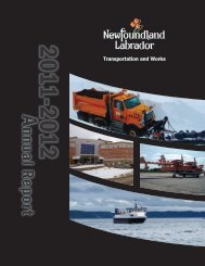 Department of Transportation and Works Annual Report 2011-12