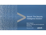 Splunk: The Security Intelligence Solution