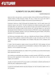 AUMENTO DO SALÁRIO MÍNIMO - FuturaNet