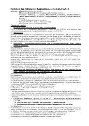 Protokoll der Sitzung des Gemeinderates vom 26.04.2010 - Lontzen