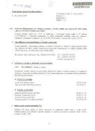 14.06.2012 15:30 - Zadávací dokumentace - Veřejné zakázky