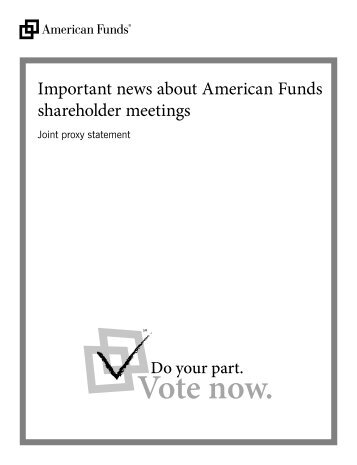 joint proxy statement american funds