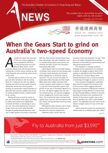 Issue 141 - The Australian Chamber of Commerce in Hong Kong.
