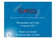 Presentatie opzet Werkgroepen - SIG Frieda - Connekt